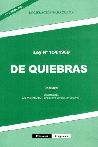 LEY DE QUIEBRAS N° 154/69
