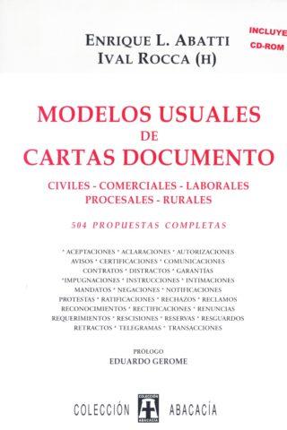 MODELOS USUALES DE CARTAS DOCUMENTO CDROM