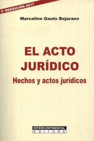 ACTO JURIDICO EL