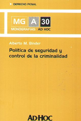 POLITICA DE SEGURIDAD Y CONTROL DE LA CRIMINA