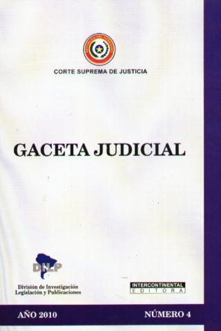 GACETA JUDICIAL 2010/4