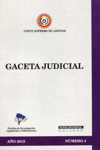 GACETA JUDICIAL 2012/4