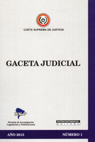 GACETA JUDICIAL 2013/1