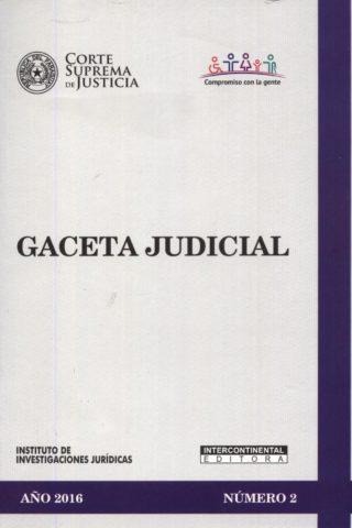 GACETA JUDICIAL 2016/2