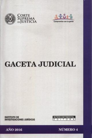 GACETA JUDICIAL 2016/4