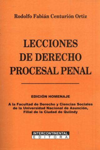 LECCIONES DE DERECHO PROCESAL PENAL